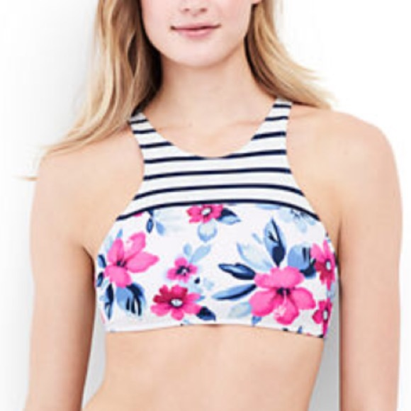 9e26025209 Lands  End Other - NWOT Women s floral high neck bikini top